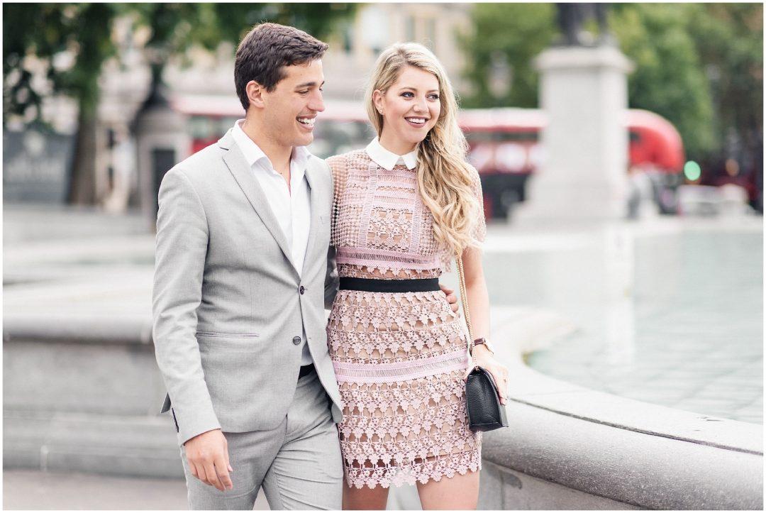 Prettiest Engagement shoot in Trafalgar square, London