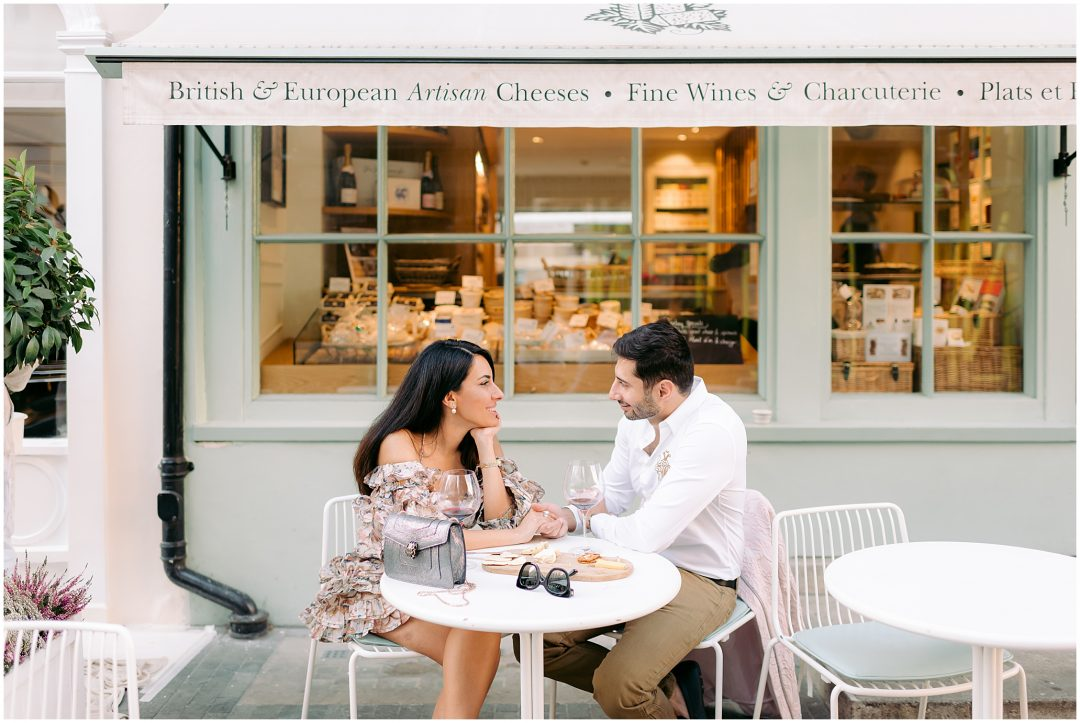 London Engagement | Chic London Cafe