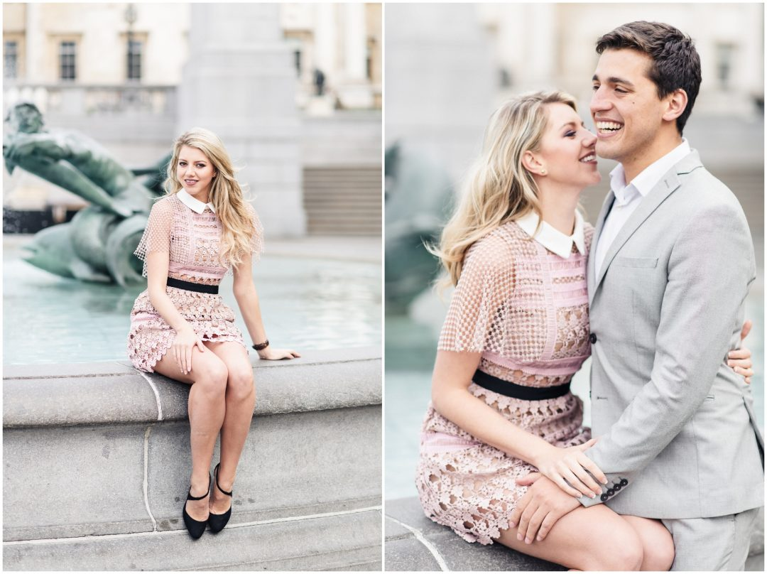 Prettiest Engagement shoot in Trafalgar square, London - lifestyle, engagement - Nkima Photography 2017 London Engagement 0016