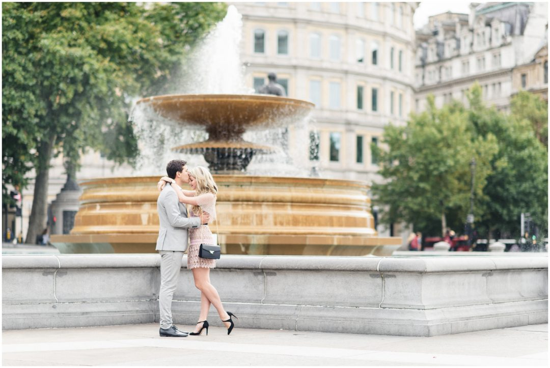 Prettiest Engagement shoot in Trafalgar square, London - lifestyle, engagement - Nkima Photography 2017 London Engagement 0018