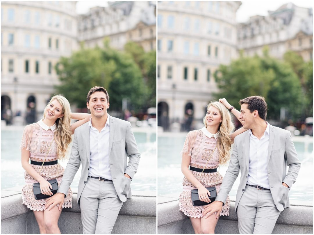 Prettiest Engagement shoot in Trafalgar square, London - lifestyle, engagement - Nkima Photography 2017 London Engagement 0023
