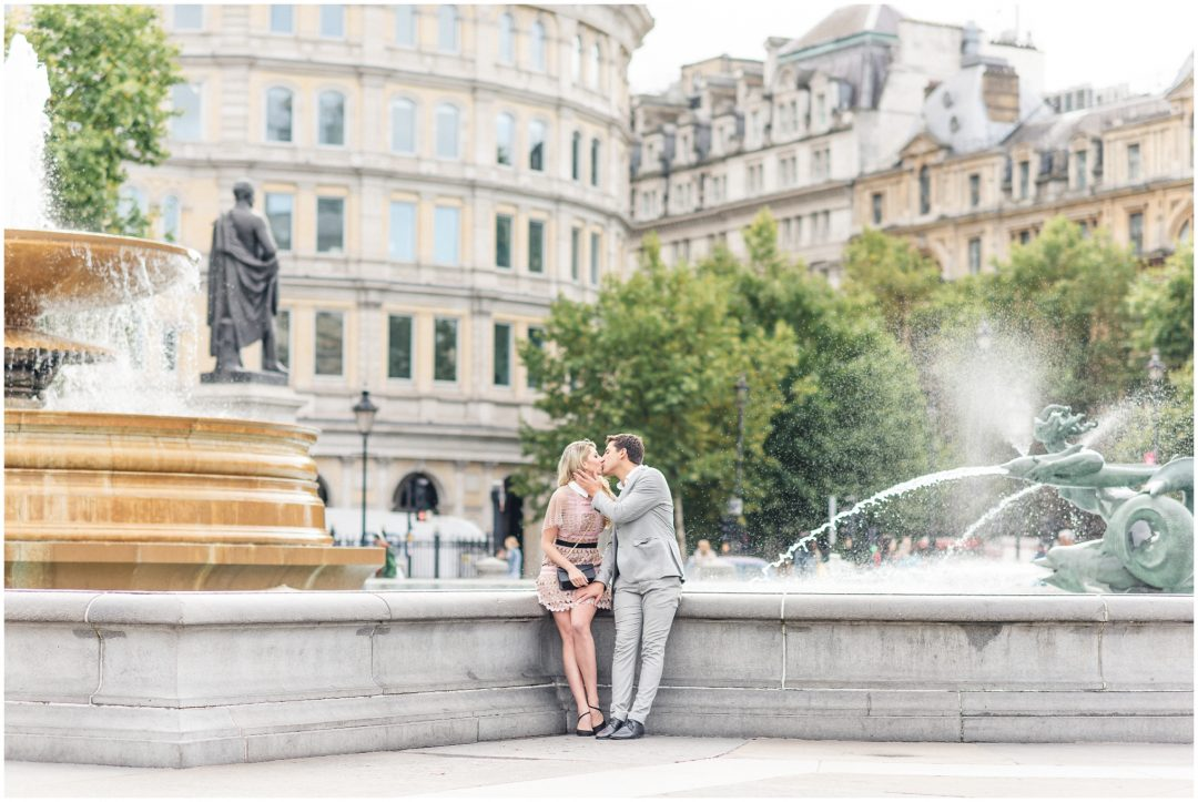 Prettiest Engagement shoot in Trafalgar square, London - lifestyle, engagement - Nkima Photography 2017 London Engagement 0027