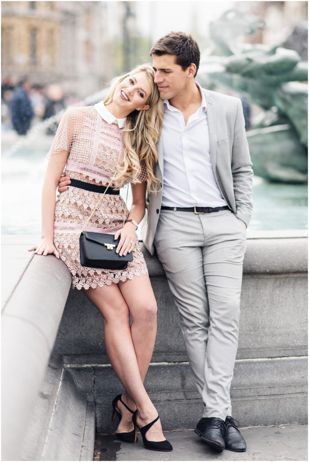 Prettiest Engagement shoot in Trafalgar square, London - lifestyle, engagement - Nkima Photography 2017 London Engagement 0029
