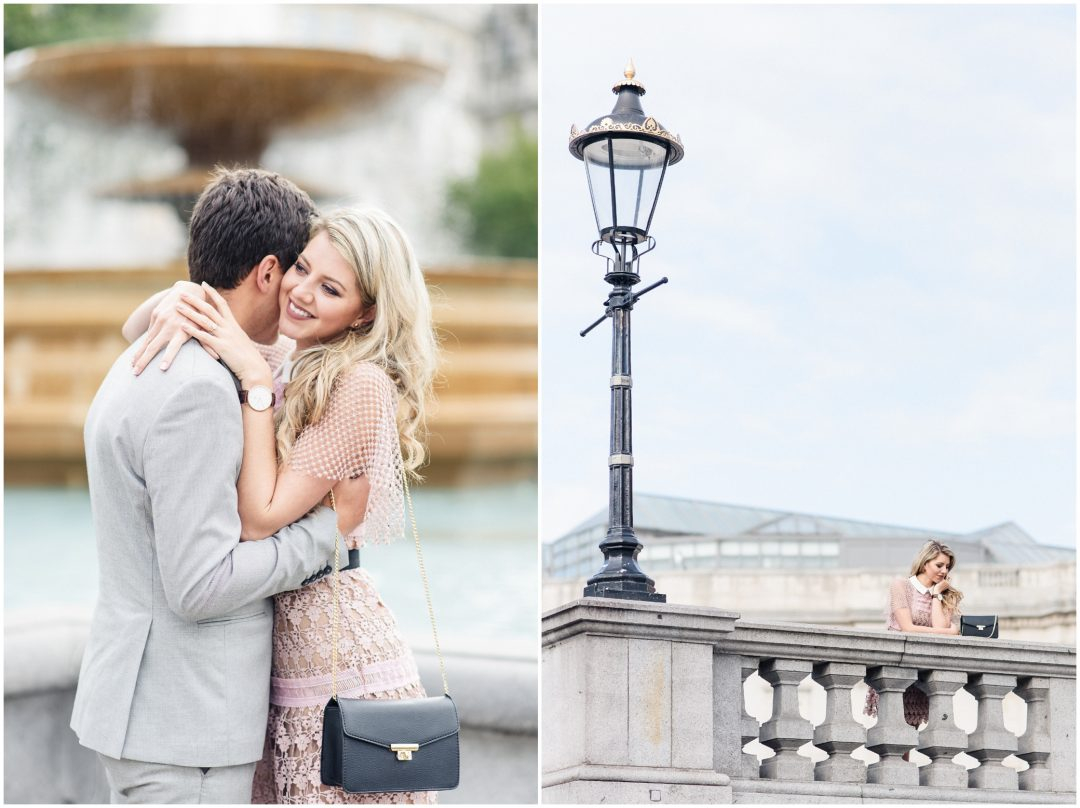 Prettiest Engagement shoot in Trafalgar square, London - lifestyle, engagement - Nkima Photography 2017 London Engagement 0030