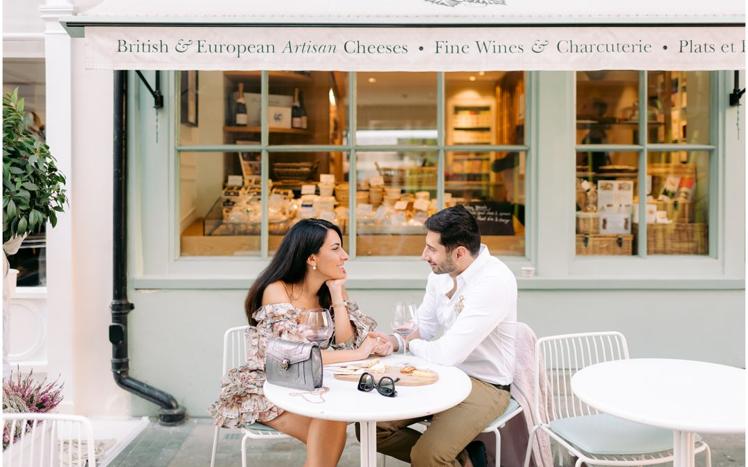 London Engagement | Chic London Cafe